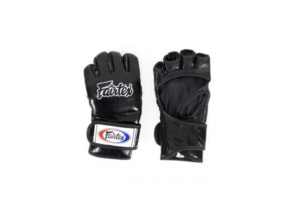 Fairtex FVG12 Black Ultimate Combat MMA Gloves Open Thumb Loop