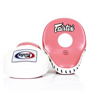 Fairtex FMV9 Contoured Focus Mitts-Pink White