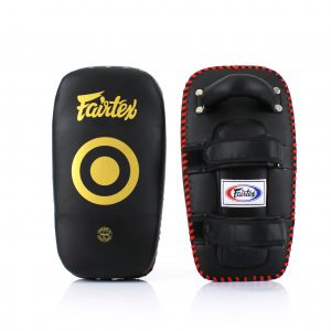 Fairtex-Curved Kick Pads-KPLC5 Black Gold