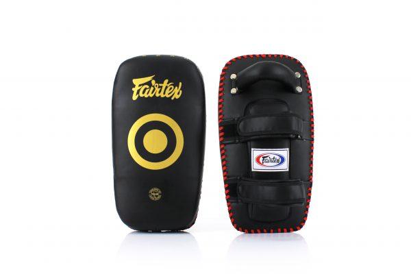 Fairtex-Curved Kick Pads-KPLC5 Black Gold