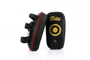 Fairtex- Black Gold Curved Kick Pads-KPLC5