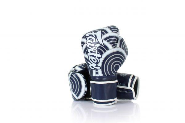 Fairtex Japanese Art Boxing Gloves BGV14 - Navy Blue with White