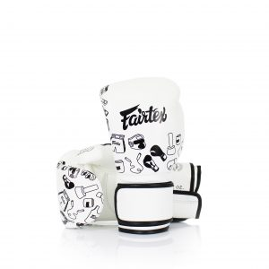 Fairtex White Street Art Graffiti Boxing Gloves BGV14
