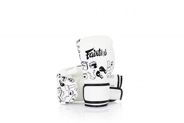 Fairtex White Street Art Graffiti Boxing Gloves BGV14
