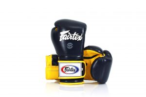 Fairtex Muay Thai Boxing Gloves BGV9 Black Yellow