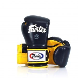 Fairtex Muay Thai Boxing Gloves BGV9 Black Yellow