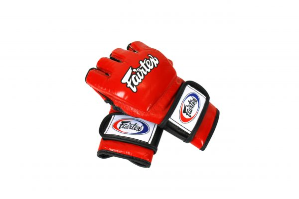 Fairtex Red Ultimate Combat MMA Gloves - With Open Thumb Loop
