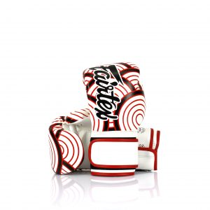 Fairtex Japanese Art Boxing Gloves BGV14 - White with Red and Black