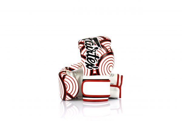 Fairtex Japanese Art Boxing Gloves BGV14 - White with Red and Black