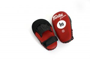 Fairtex FMV12/Black Red Microfiber Pads