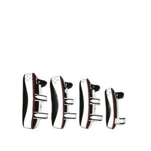 Fairtex-Black Wihite Curved Kick Pads-KPLC2