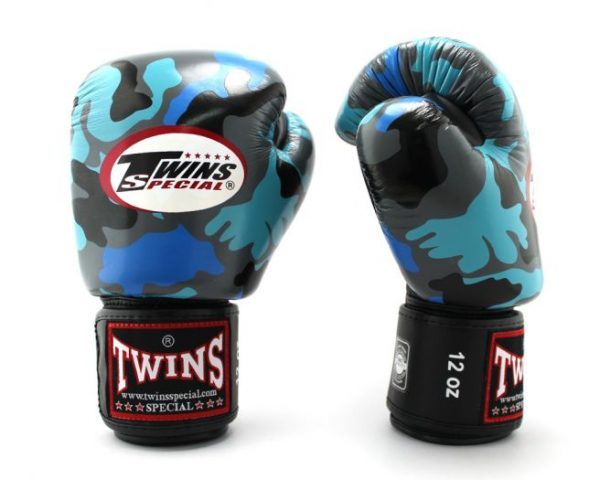 Twins Boxing Gloves-FBGV-Navy Blue