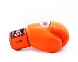 Twins BGVL3 Orange Velcro Boxing Gloves