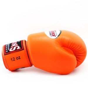 Twins BGVL3 Orange Velcro Boxing Gloves