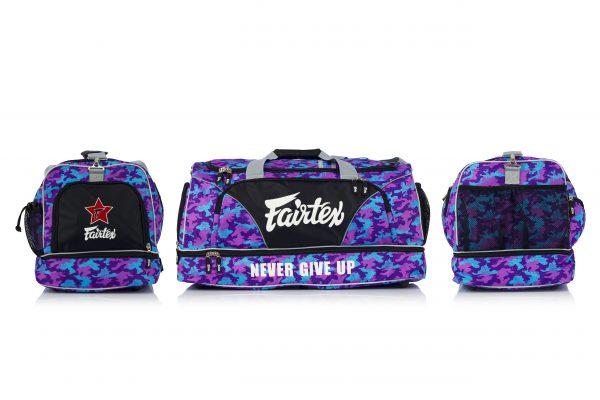 BAG2-Fairtex Gym Bag Camo Purple