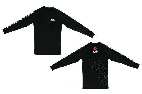 Fairtex Pro Long Sleeves Rashguard-Black