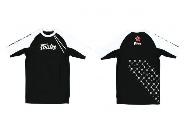 Fairtex Short Sleeves Rashguard-Black/White
