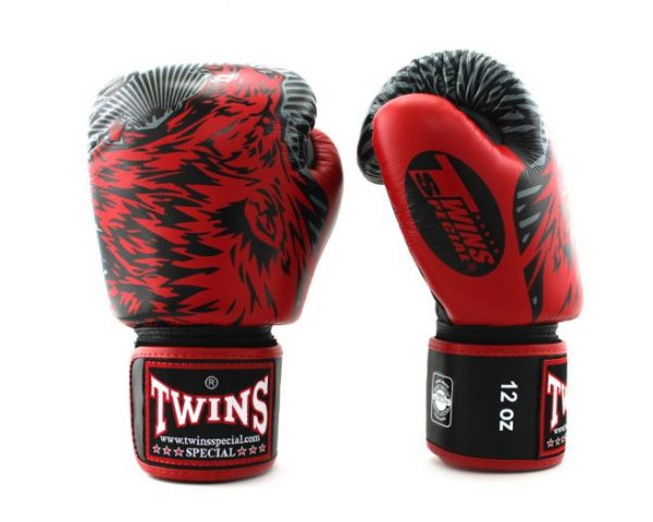 Twins Boxing Gloves-FBGV-50- Red Wolf