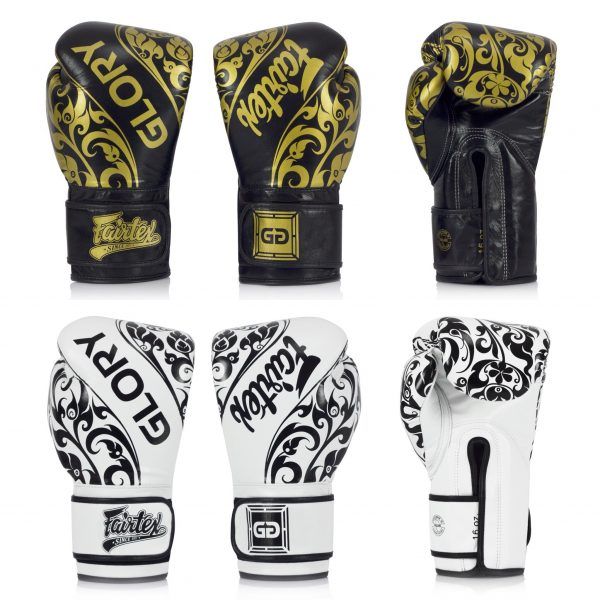 Fairtex X Glory Limited Edition Competition Gloves - Black and White