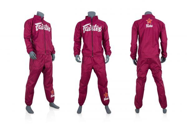 Fairtex Sweat Suit-Red