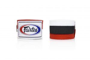 Fairtex HW2 Hand Wraps- White Red