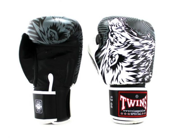 Twins Boxing Gloves - FBGV- 50- Wolf-White