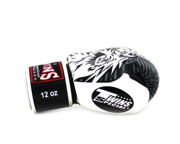 FBGV50 Boxing Gloves White Black Wolf