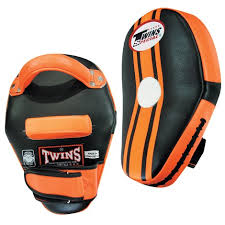 Twins KPL-11 Kicking Pads-Black Orange