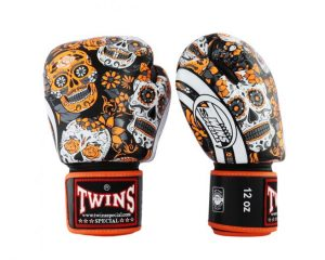 Twins Boxing Gloves-FBGV53-Skull Orange