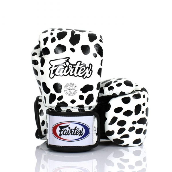 Fairtex BGV1 Fancy Boxing Gloves White Dalmatian