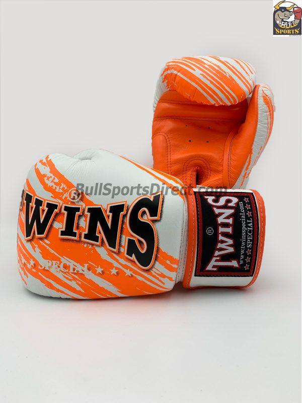 Twins FBGV-TW2 White Orange Boxing Gloves