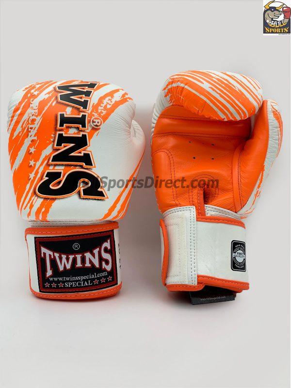 Twins Boxing Gloves FBGV-TW2 Orange White