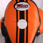 Twins-KPL-11 Curved Kicking Pads- Black Orange