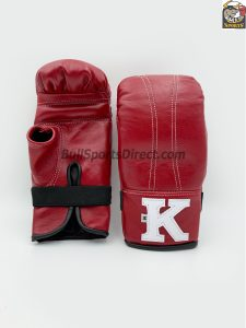 Red Bag Gloves with Open Thumb by K Brand