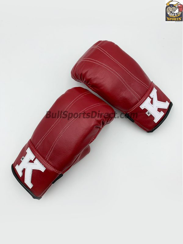 Red Black Bag Gloves with Open Thumb - K Brand