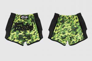 Fairtex Slim Cut Shorts -Green Camo