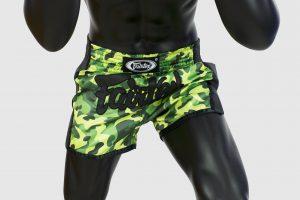 Fairtex - BS1710 - Slim Cut Shorts -Green Camo