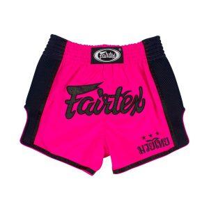 Fairtex Slim Cut Shorts - Shocking Pink