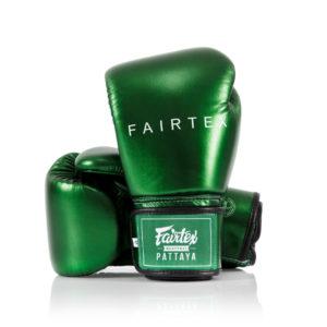 "Fairtex BGV22 ""Metallic"" Micro Fiber Leather Boxing Gloves-Green"