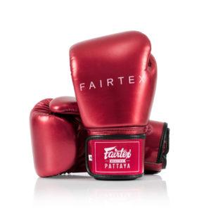 """Fairtex Red """"Metallic"""" Boxing Gloves - BGV22"""