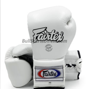 Fairtex BGL7 Pro Training Gloves Mexican Style- White