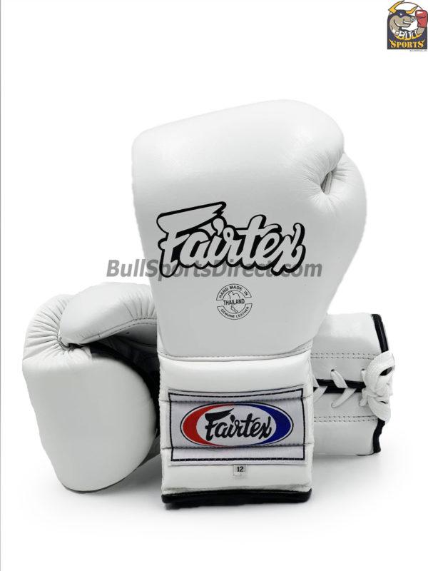 Fairtex BGL7 Pro Training Gloves Mexican Style- White