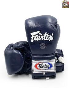 Fairtex BGL7 Pro Training Gloves Mexican Style Blue Color