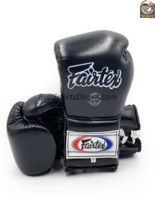 Fairtex BGL7 Pro Training Black Gloves Mexican Style