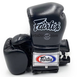 Fairtex BGL7 Pro Training Black Gloves Mexican Style