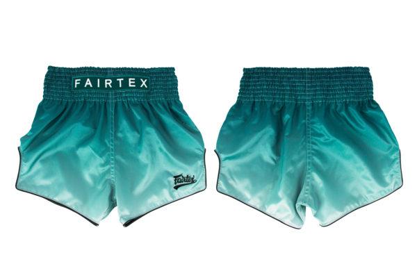 Fairtex Slim Cut Shorts Green Fade